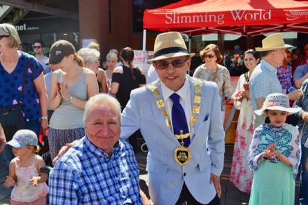 Me (Stephen Williams) Having A Photo Taken With The New Mayor Of Runnymede.