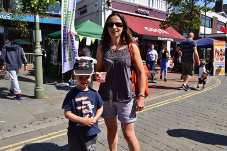 Mrs Kirsty Noble And Her Son Heath.
