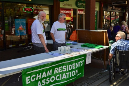 Egham Residents Association Stall.