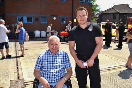 Myself (Stephen Williams) With Fire Fighter Karl Jones.