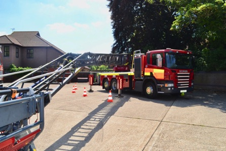 A New Extending Ladder. Used When Putting Fires Out On Tall Buildings.