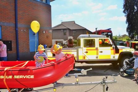 Surrey Fire And Rescue Boat. Used To Ferry People Around When There Are Floods.