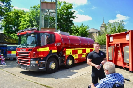 A New Water Carrier, Holding 18,000 Gallons Of Water. Used For Showering And De-Contaminating People And Fire Fighers