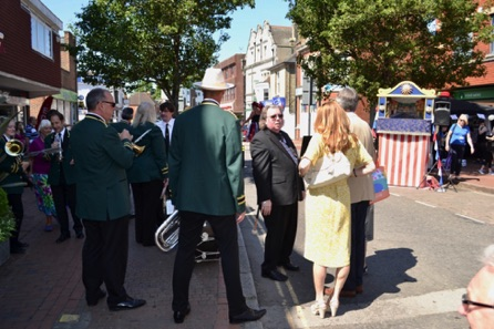 Mr Philip Hammond Meeting The Egham Band.